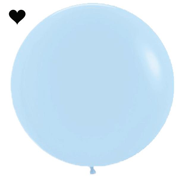 Ballon Pastel Mat Blauw (60cm)-1
