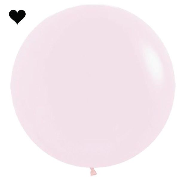 Ballon Pastel Mat Roze (60cm)-1
