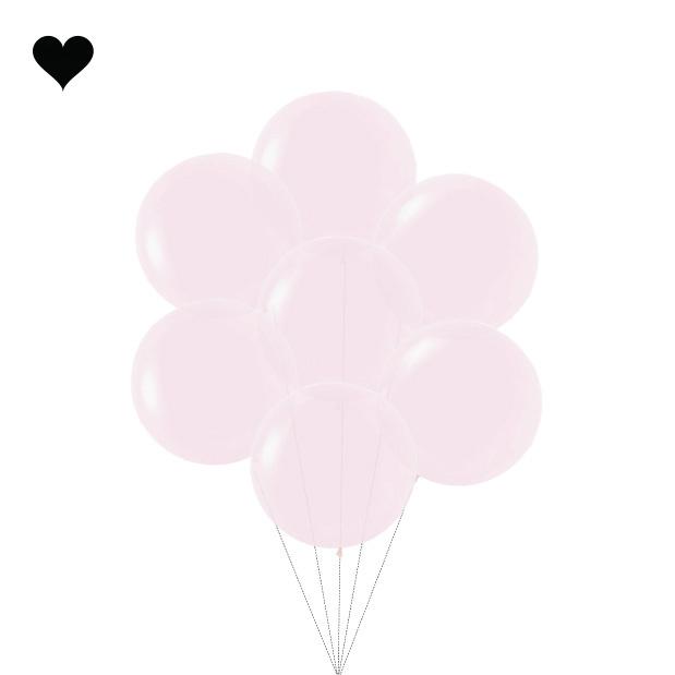 Ballon Pastel Mat Roze (60cm)-3