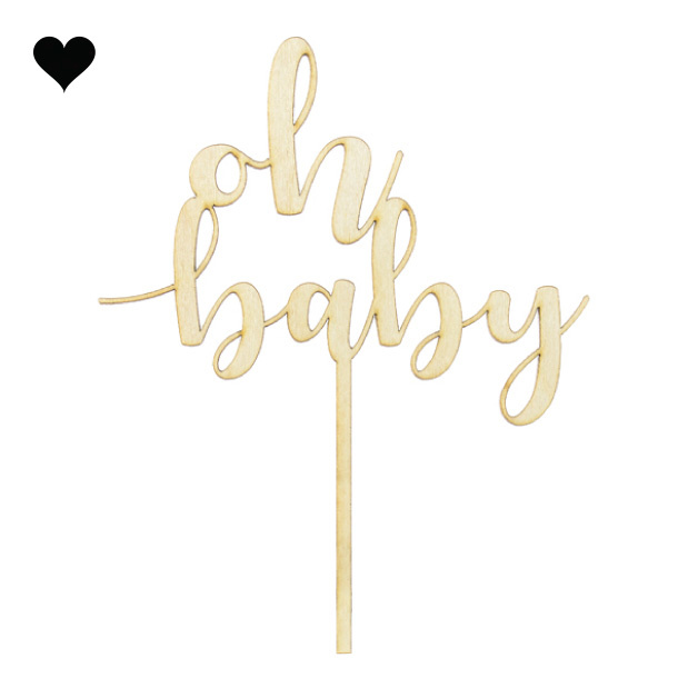Taarttopper hout Oh Baby-2