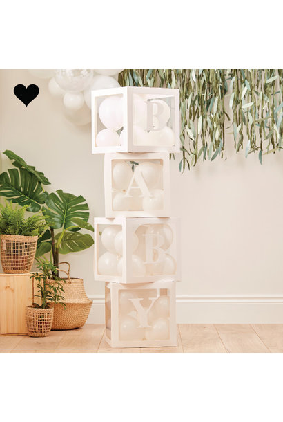 Pop up Baby blokken met ballonnen Botanical Baby Ginger Ray