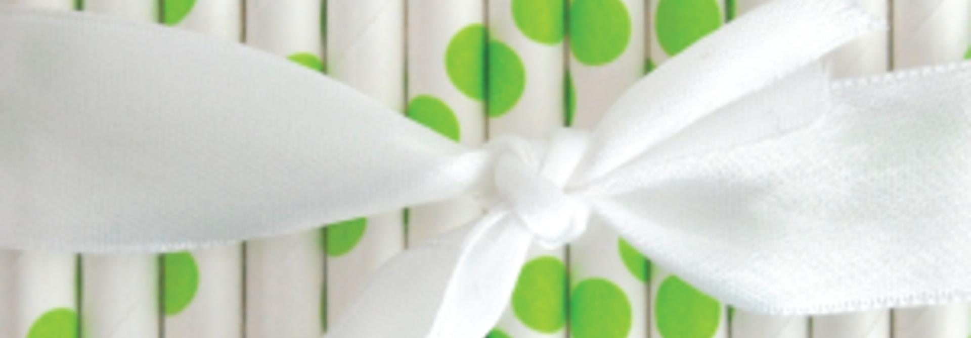papieren rietjes polka dot appel groen