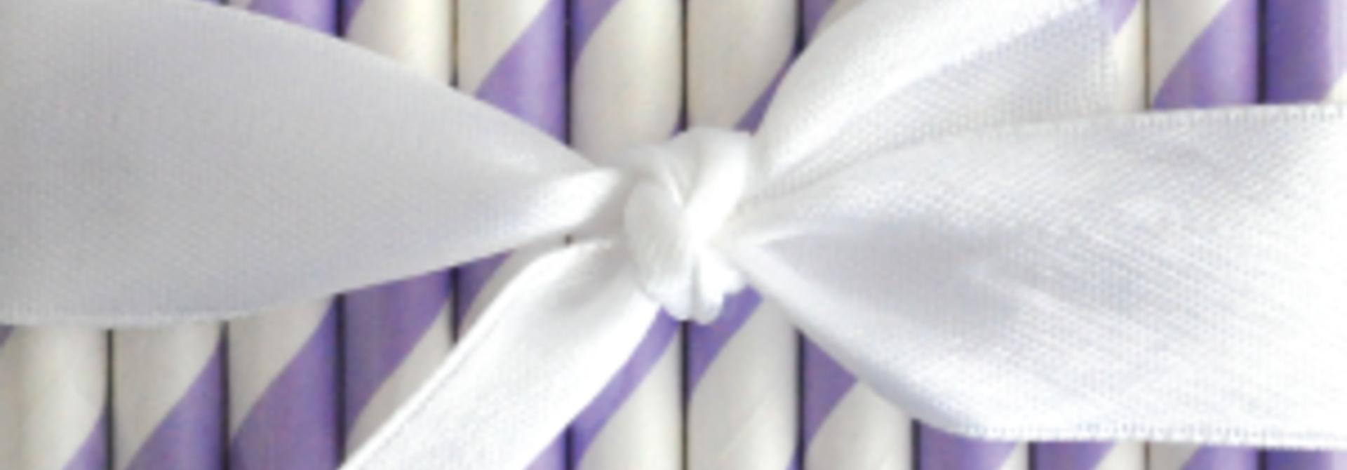 papieren rietjes gestreept paars