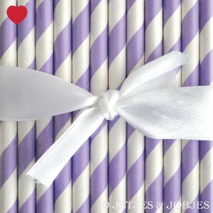 papieren rietjes gestreept paars-1