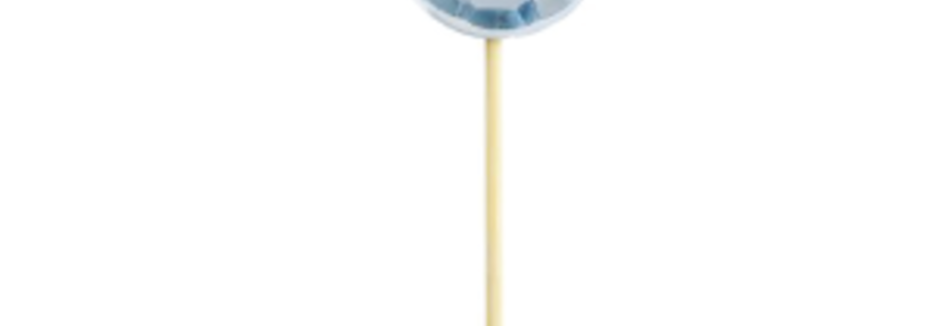 Miss Etoile cupcake toppers diamant blauw (16st)