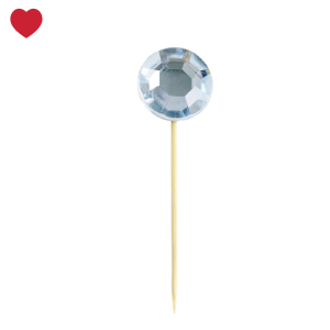 Miss Etoile cupcake toppers diamant blauw (16st)-1