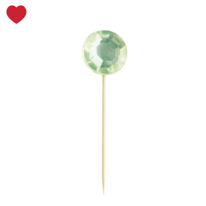 Miss Etoile cupcake toppers diamant groen (16st)-1