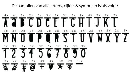 Letterslinger zwart 147-delig A little lovely company-2