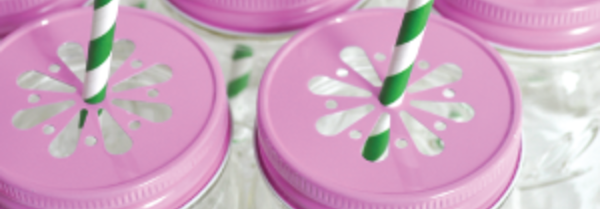Mason Jar margriet deksel roze