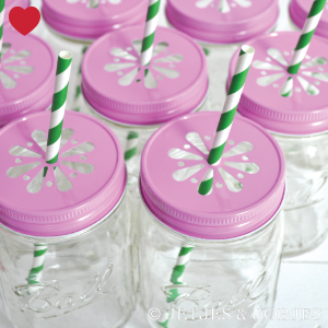 Mason Jar margriet deksel roze-1