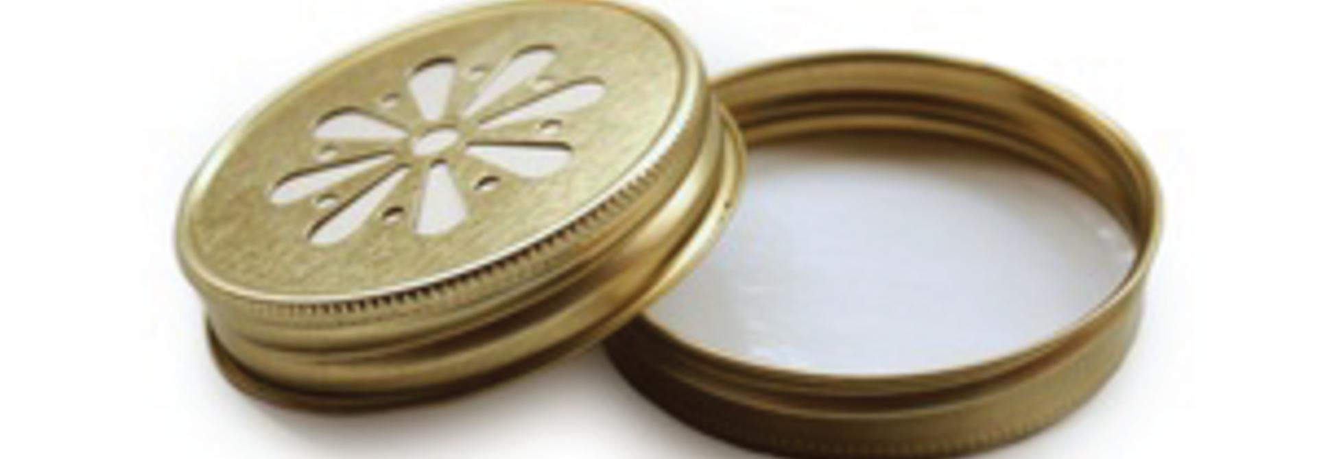 Mason Jar margriet deksel goud