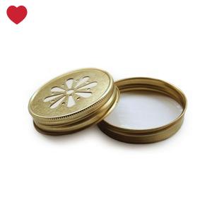 Mason Jar margriet deksel goud-1