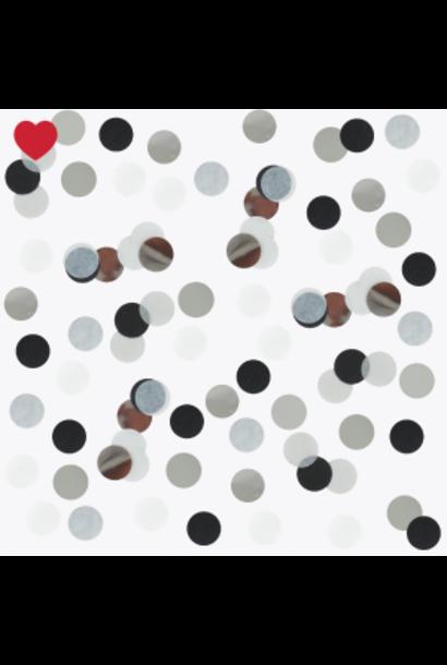 Confetti zwart glitter