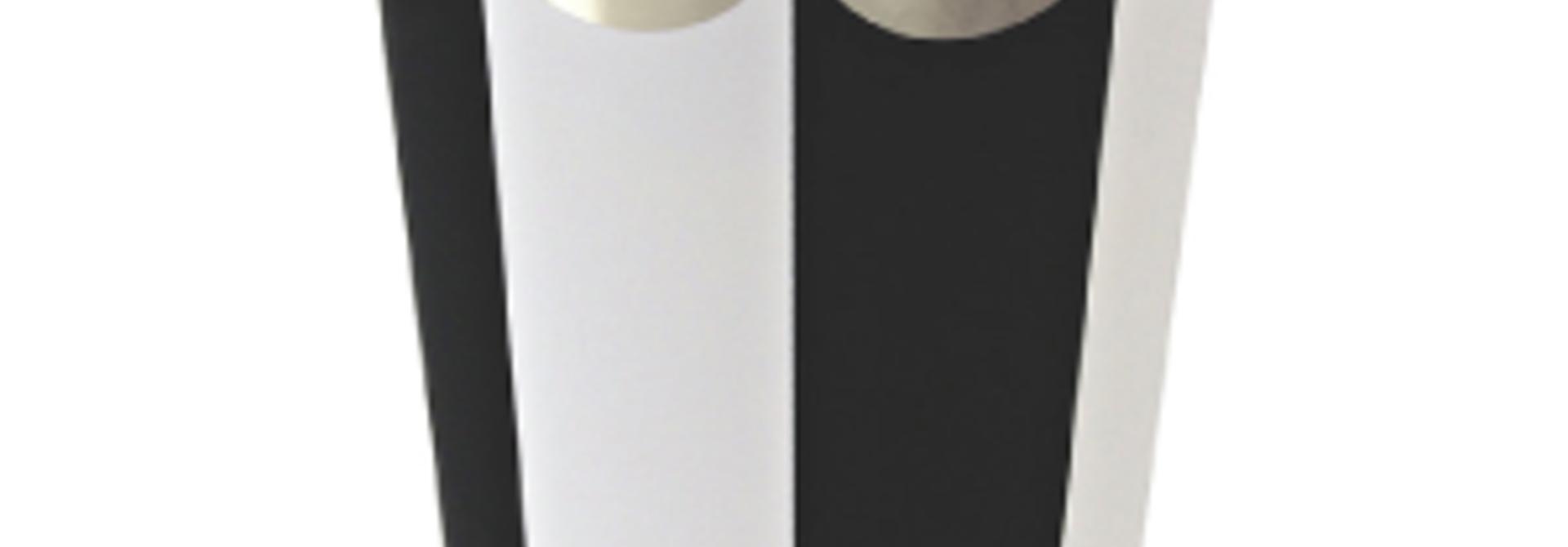 Meri Meri bekers zwart wit gestreept