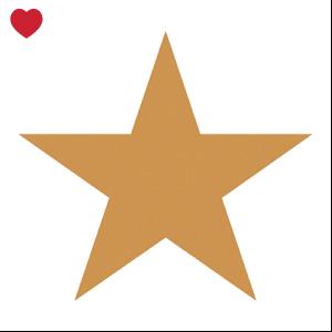 Papieren servetten ster brons-1