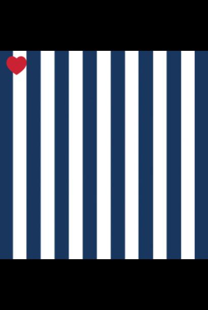 Papieren servetten marine blauw gestreept (20st)