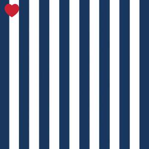 Papieren servetten marine blauw gestreept (20st)-1