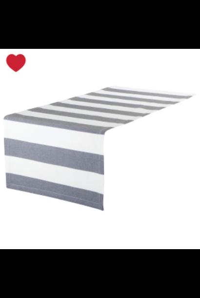 tafelloper blauw grijs gestreept