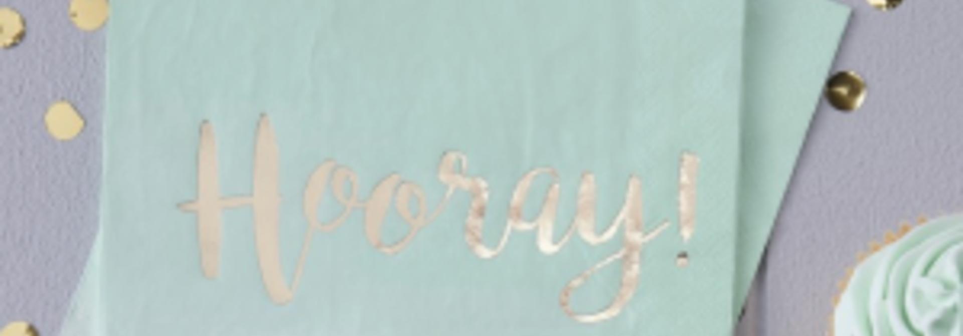 Hooray servetten ombre mint (20st)