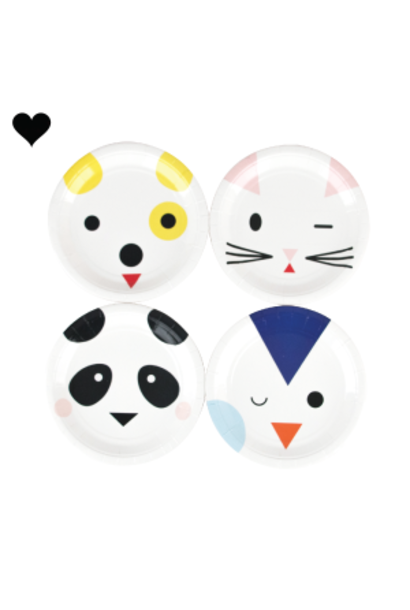 Gebaksbordjes cute animals (8st) My Little Day