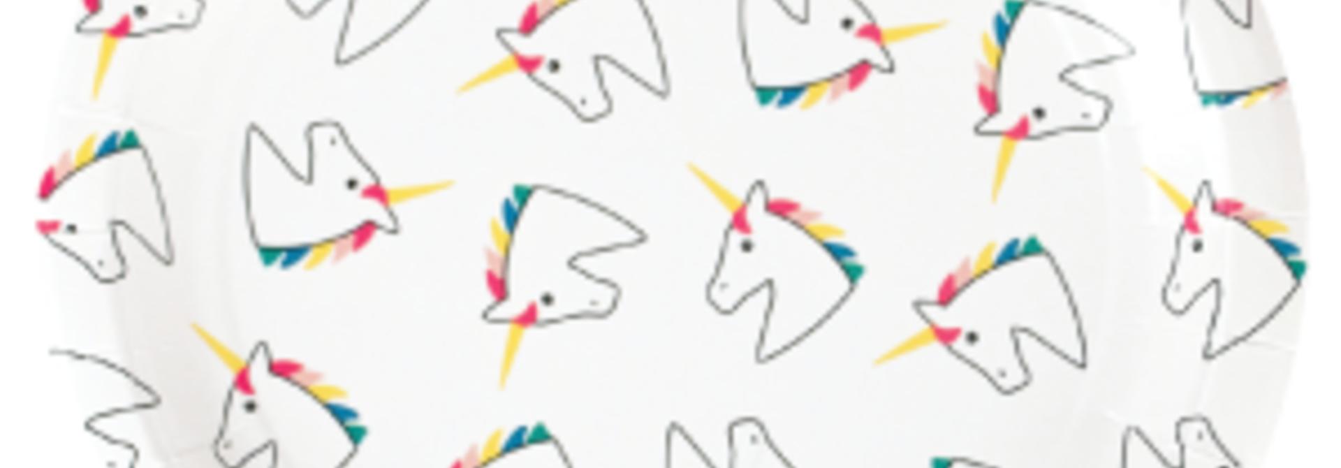 Unicorn bordjes (8 st)