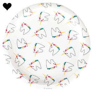 Unicorn bordjes (8 st)-1