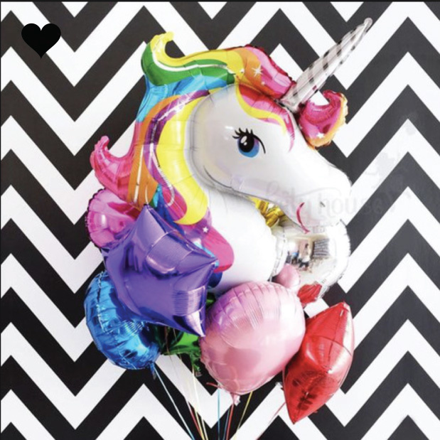 Unicorn folieballon (83 cm)-2
