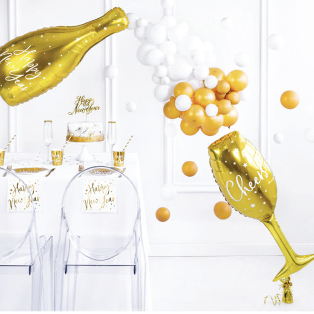 Champagnefles folieballon (80 cm)-3