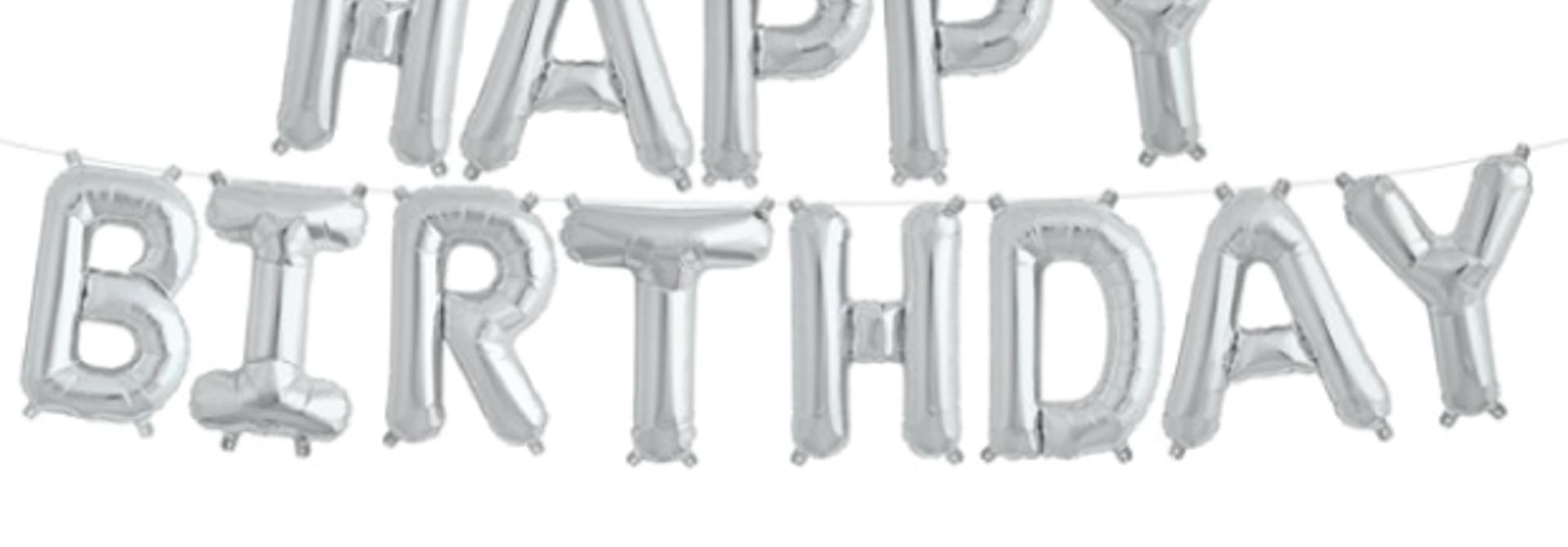 Happy Birthday kit zilver xxl