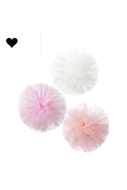 Tule pompoms Talking Tables (3st)