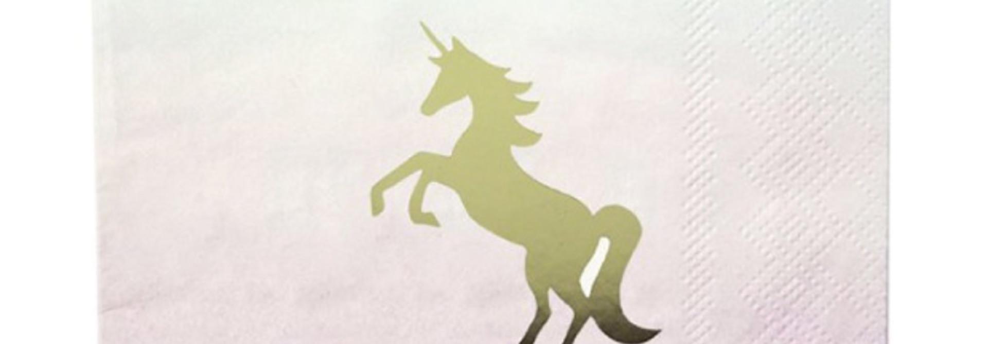 We ♥ unicorns servetten (16 st) - Talking Tables
