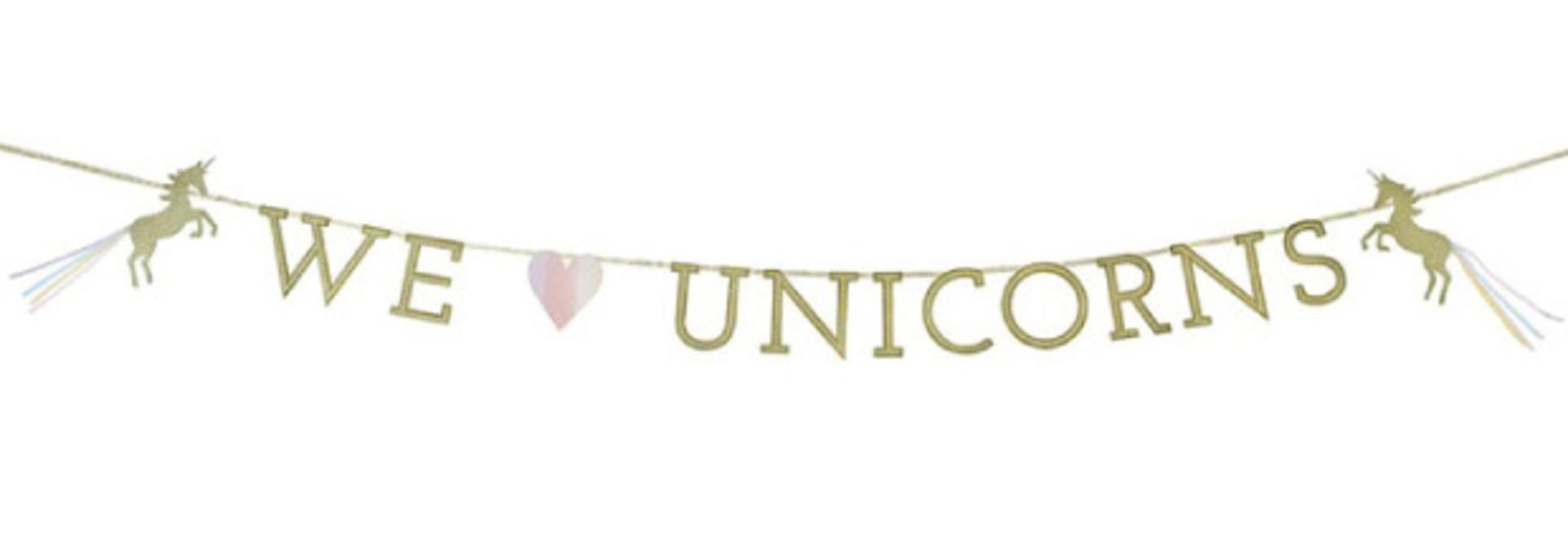 We heart unicorns slinger (3 m)- Talking Tables