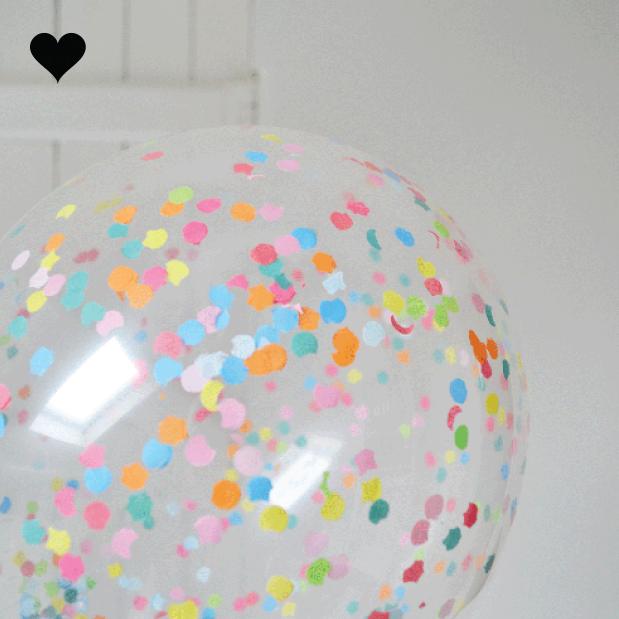 Confetti ballonnen regenboog (5st)-3