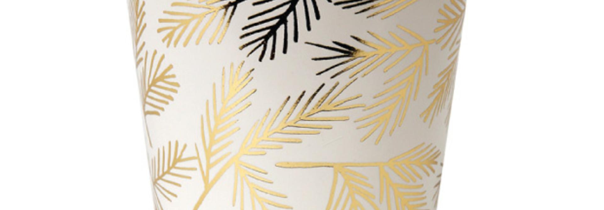 Gouden pijnboom bekers - Meri Meri (8st)