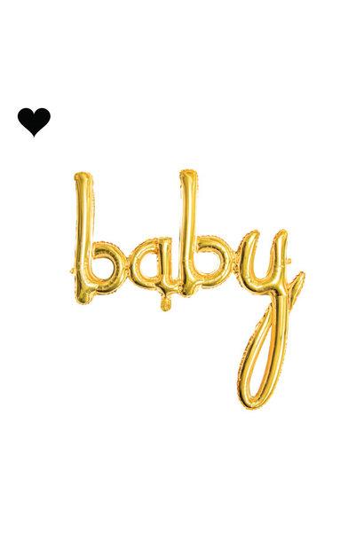 Folieballon script baby goud (74cm)