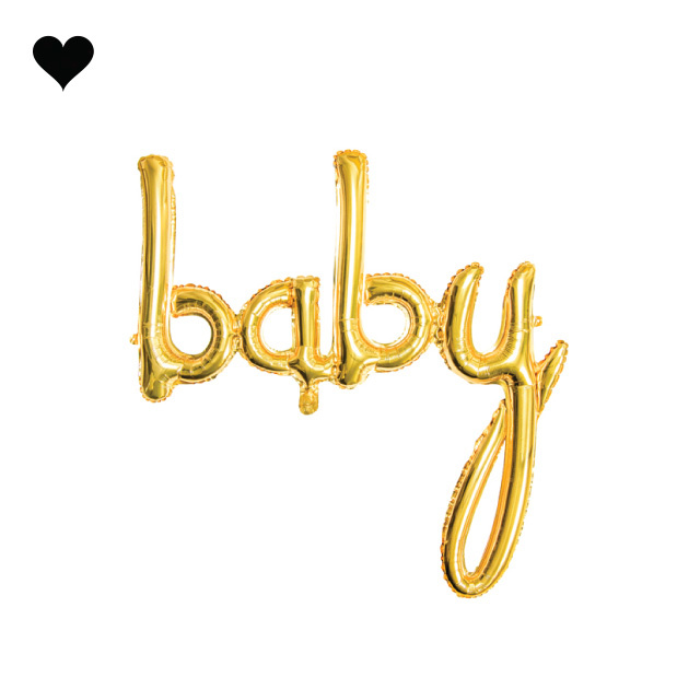 Folieballon script baby goud (74 cm)-1