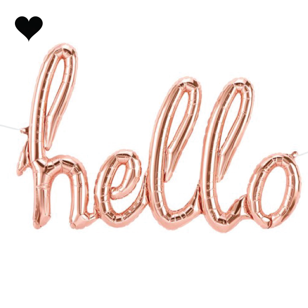 Folieballon hello roze goud (119 cm)-1