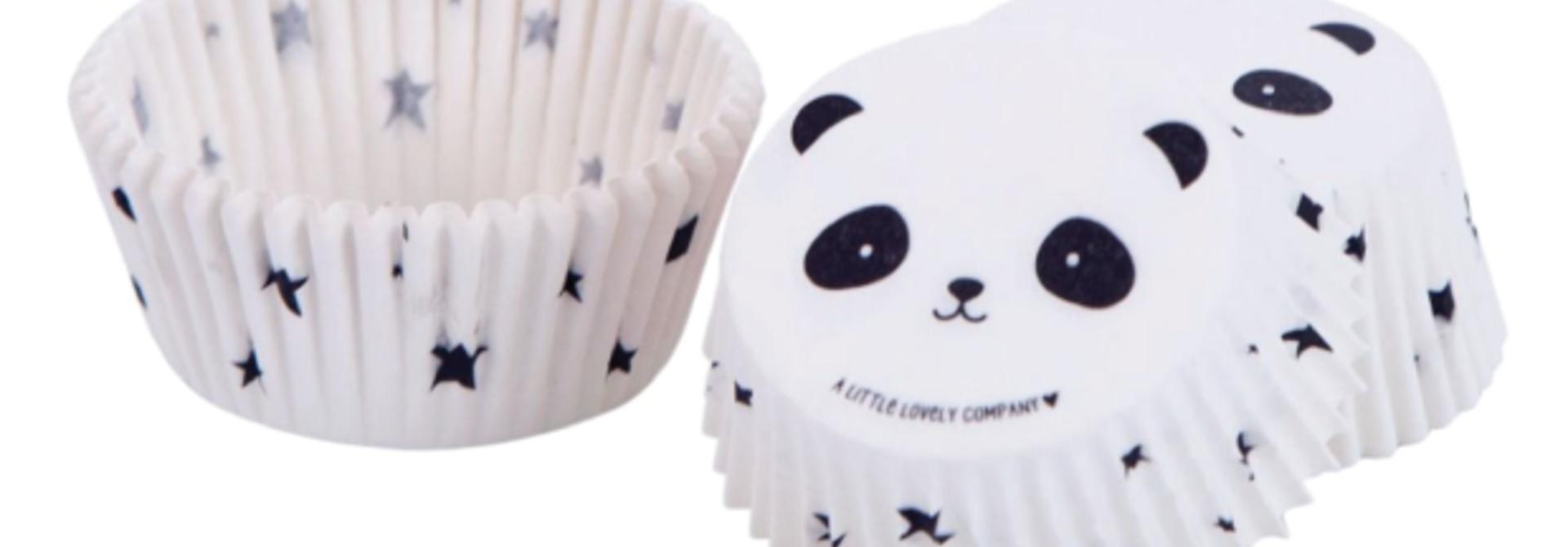 Panda cupcake vormpjes (50 st) - A little lovely company