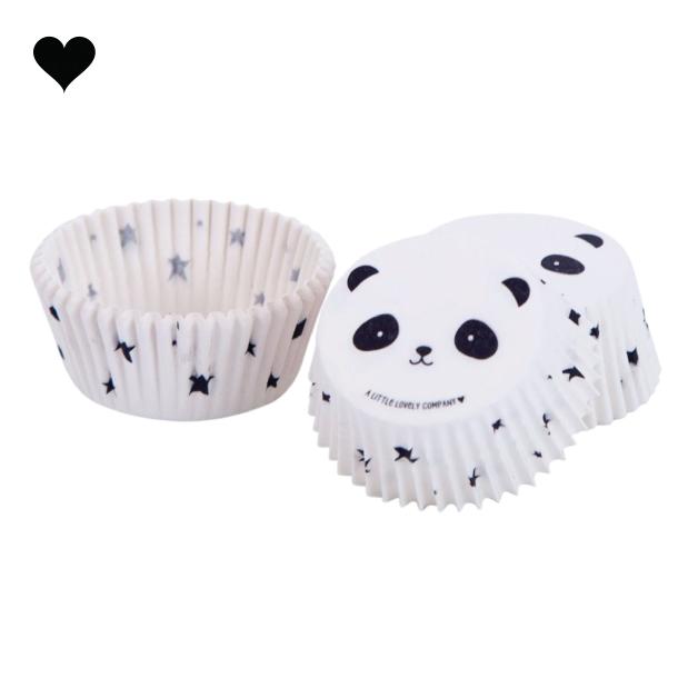 Panda cupcake vormpjes (50 st) - A little lovely company-1
