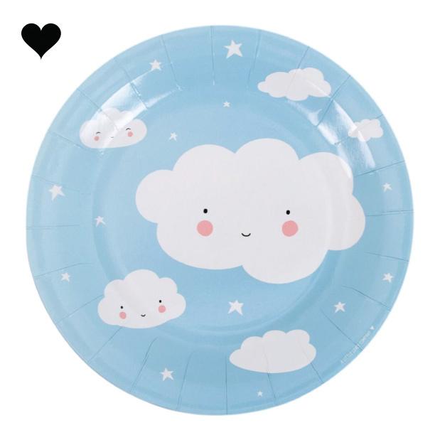 Wolken bordjes (12st) A little lovely company-1