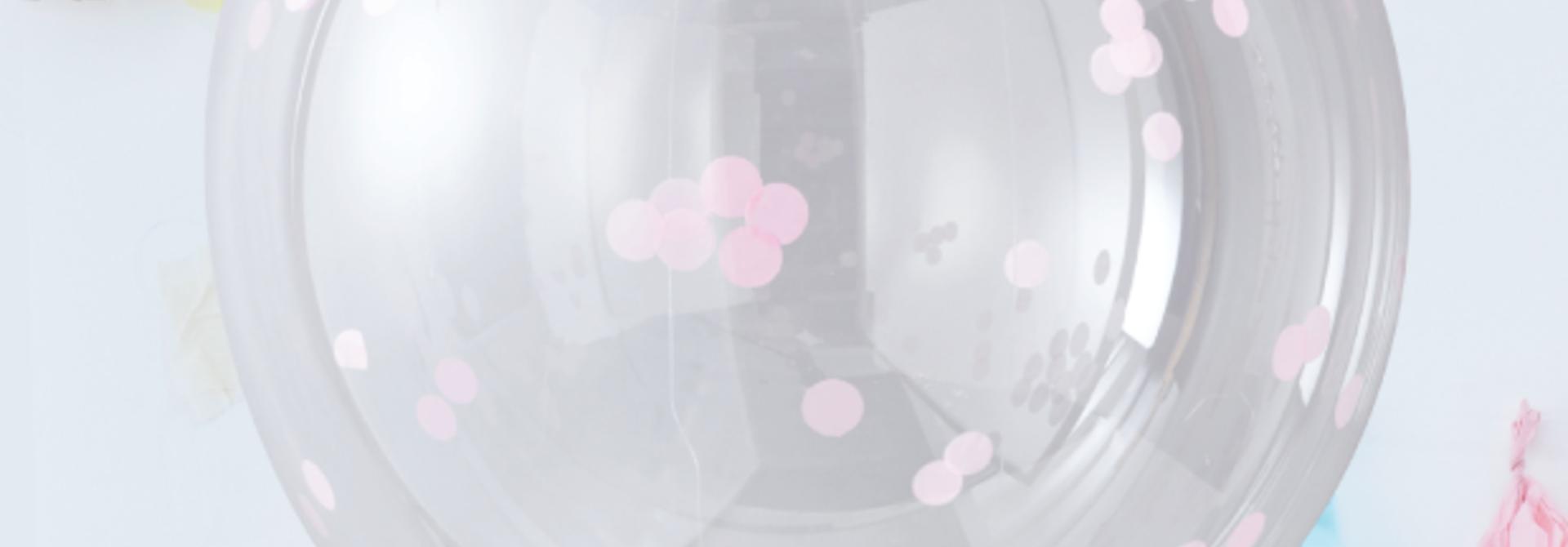 Orb confetti ballonnen roze (3st)  - Ginger Ray
