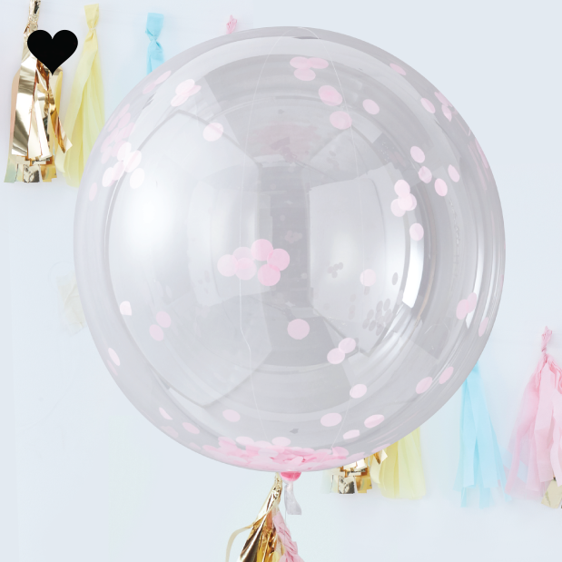 Orb confetti ballonnen roze (3st)  - Ginger Ray-1