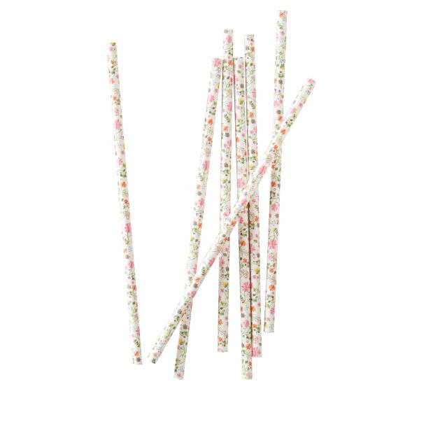 Papieren rietjes bloemen (25 st)  Ginger Ray-2