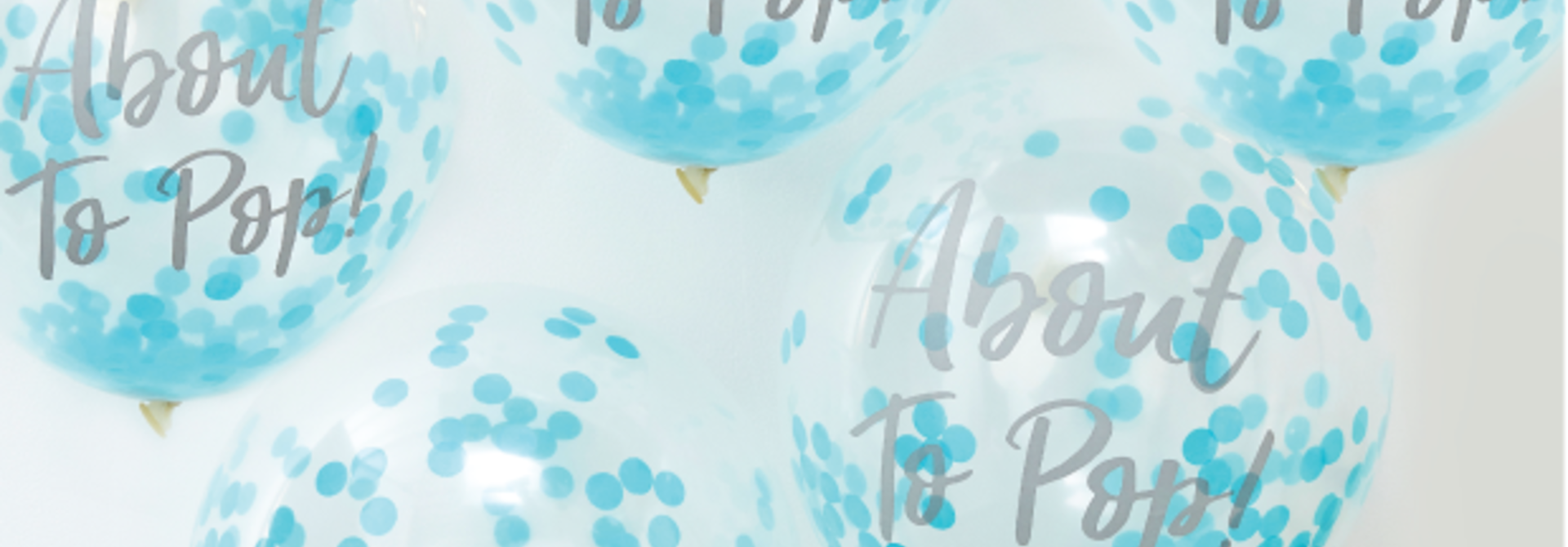 Confetti ballonnen about to pop blauw  - Ginger Ray