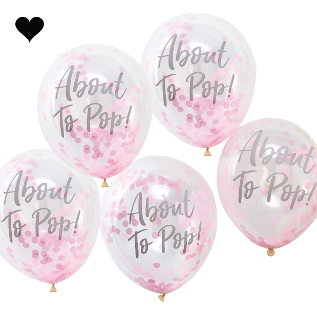 Confetti ballonnen about to pop roze  - Ginger Ray-2