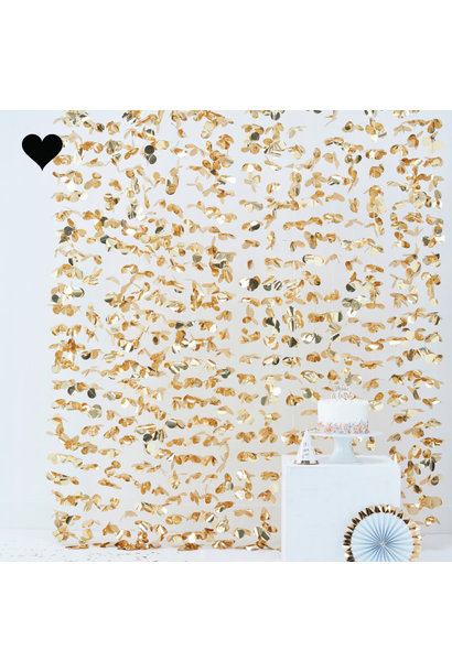 Backdrop bloemen goud pick & mix pastel Ginger Ray