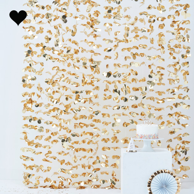 Backdrop bloemen goud pick & mix pastel Ginger Ray-1