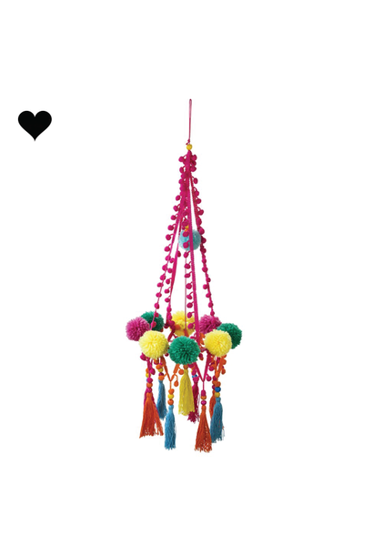 Boho pom pom chandelier - Talking Tables