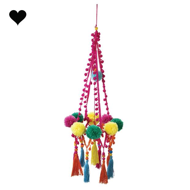 Boho pom pom chandelier - Talking Tables-1