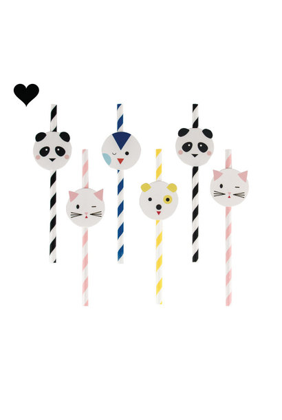 Papieren kawaii rietjes (12 st) My Little Day